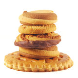 Stack of delicious cookies Royalty Free Stock Photo