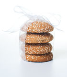 Stack of delicious cookies Stock Image