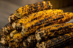 Stack of delicious golden grilled corn on the cob. Stack of delicious golden grilled corn cob Stock Photography