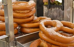 Stack of New York Pretzels stock images