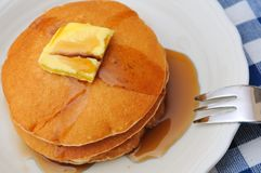 Stack of delicious pancakes Royalty Free Stock Photo