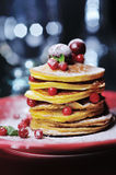 Stack of delicious pancakes Stock Image