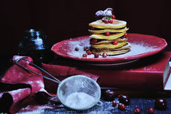 Stack of delicious pancakes Royalty Free Stock Image