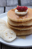 Stack of delicious pancakes. Royalty Free Stock Photos