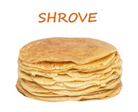 Stack of delicious pancakes Royalty Free Stock Images