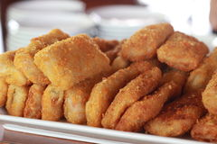 Stack of Delicous Rissole at White Plate Stock Photography