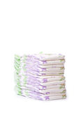 A stack of diapers. With white background stock photography