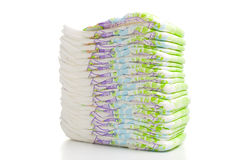 Stack of diapers Stock Photo