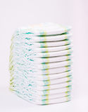 Stack of Diapers isolated Royalty Free Stock Images