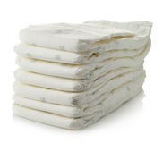 Stack of diapers Royalty Free Stock Images