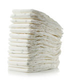Stack of diapers Royalty Free Stock Photos