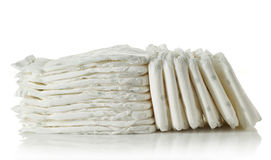 Stack of diapers Stock Image