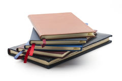 Stack of diaries Royalty Free Stock Images