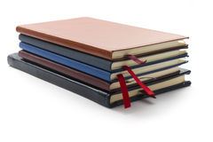 Stack of diaries Stock Photos