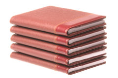 Stack of Diaries Isolated Royalty Free Stock Photo