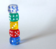 Stack of Dice Stock Images