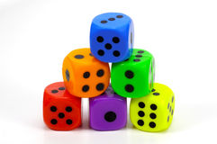 Stack Dice Stock Image