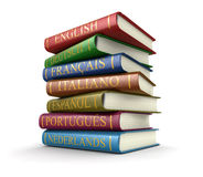 Stack of dictionaries (clipping path included) Stock Photos
