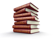 Stack of dictionaries (clipping path included) Royalty Free Stock Images