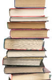 Stack of different books on a white background Stock Image
