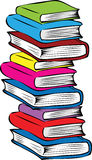 A  stack of different colored books. A cartoon vector illustration of a stack or pile of different colored books Royalty Free Stock Image