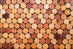 Stack of different colored used corks Stock Image