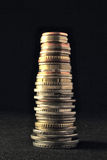 A stack of different international coins Royalty Free Stock Images
