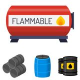 Oil drums container fuel cask storage rows steel barrels capacity tanks  Royalty Free Stock Photo
