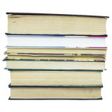 Stack of different old books with no labels Stock Photography