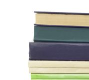 Stack of different old books with no labels Royalty Free Stock Photo