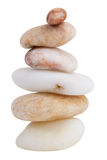 Stack of different smooth river stones Royalty Free Stock Images