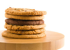 Stack of different types of cookies Stock Image
