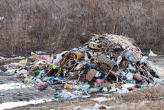 Stack of different types garbage Stock Photos