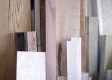 A Stack of Different Types of Wood. Stock Photography