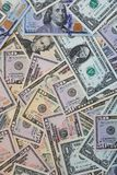 Stack of different US Dollar Banknotes royalty free stock photos