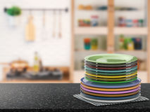 Stack of dishes Stock Image