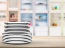 Stack of dishes Royalty Free Stock Photos