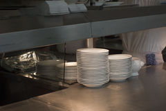 Stack of Dishes Royalty Free Stock Photography