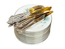 Stack of dishware Royalty Free Stock Photography