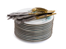 Stack of dishware Stock Photography