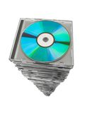 Stack of disks Royalty Free Stock Images