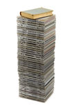 Stack of disks and book Royalty Free Stock Photo