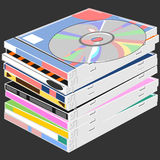 The stack of disks Royalty Free Stock Photo
