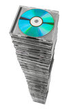 Stack of disks Royalty Free Stock Photography