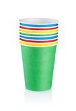 Stack of disposable cups Stock Photo