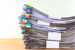 Stack document of account include sales Royalty Free Stock Photos