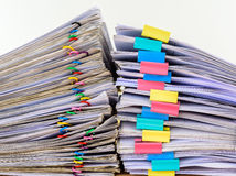 Stack document of account include sales Stock Photos