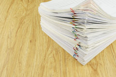 Stack document of account include sales and receipt Stock Photography