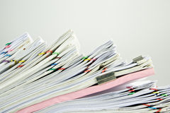 Stack document of account overload Royalty Free Stock Images
