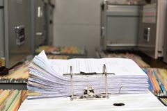 Stack Document file. Pace on Cabinet in office stock photography